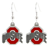 Ohio State Buckeyes Logo Dangle Earrings