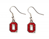Ohio State Glitter Earrings