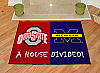 "Ohio State - Michigan House Divided Rugs 34""x45"""