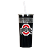 Ohio State Black Bling Tumbler with Straw