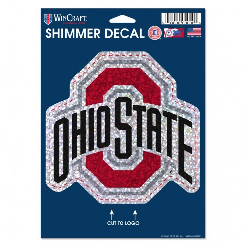 "Ohio State 5"" x 7"" SHIMMER DECAL"