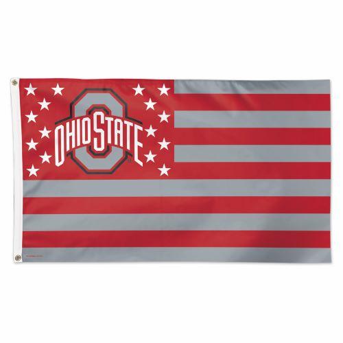 Ohio State Buckeyes Stars And Stripes 3'x5' Flag