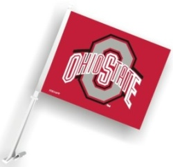 Ohio State Buckeyes Red Car Flag