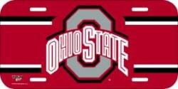 Ohio State Buckeyes Plastic License Tag