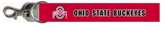 Ohio State Red Wristlet Lanyard Keychain