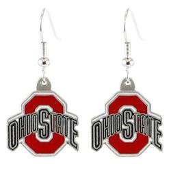 Ohio State Buckeyes Logo Dangle Earrings