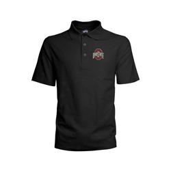 Ohio State Buckeyes Mens Black Athletic O Polo Shirt