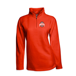 Ohio State Womens Red Fleece Pullover
