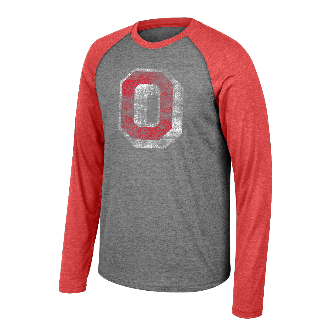 Ohio State Unisex Buckeyes Graphite and Red Long Sleeve Shirt