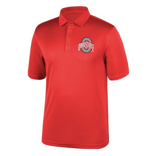 Ohio State Buckeyes Mens Scarlet Athletic O Polo Shirt