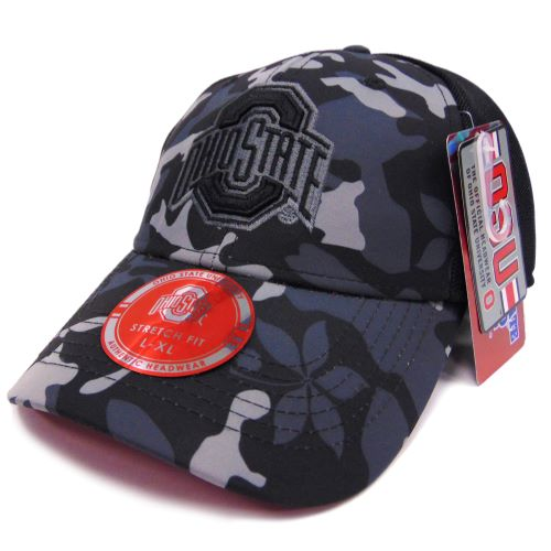 Ohio State Camouflage Athletic O Black Flex-Fit Hat