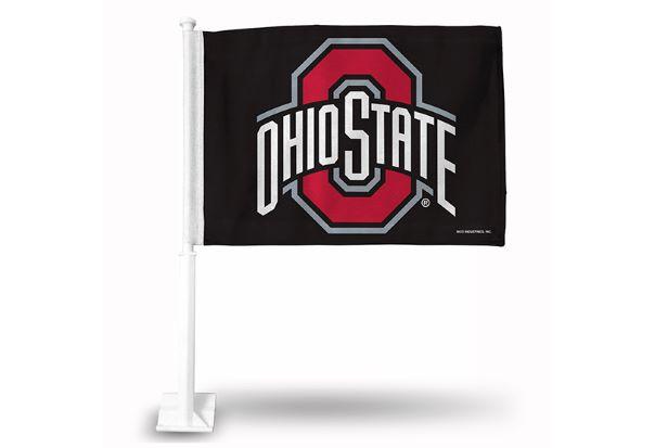 Ohio State Buckeyes Black Car Flag