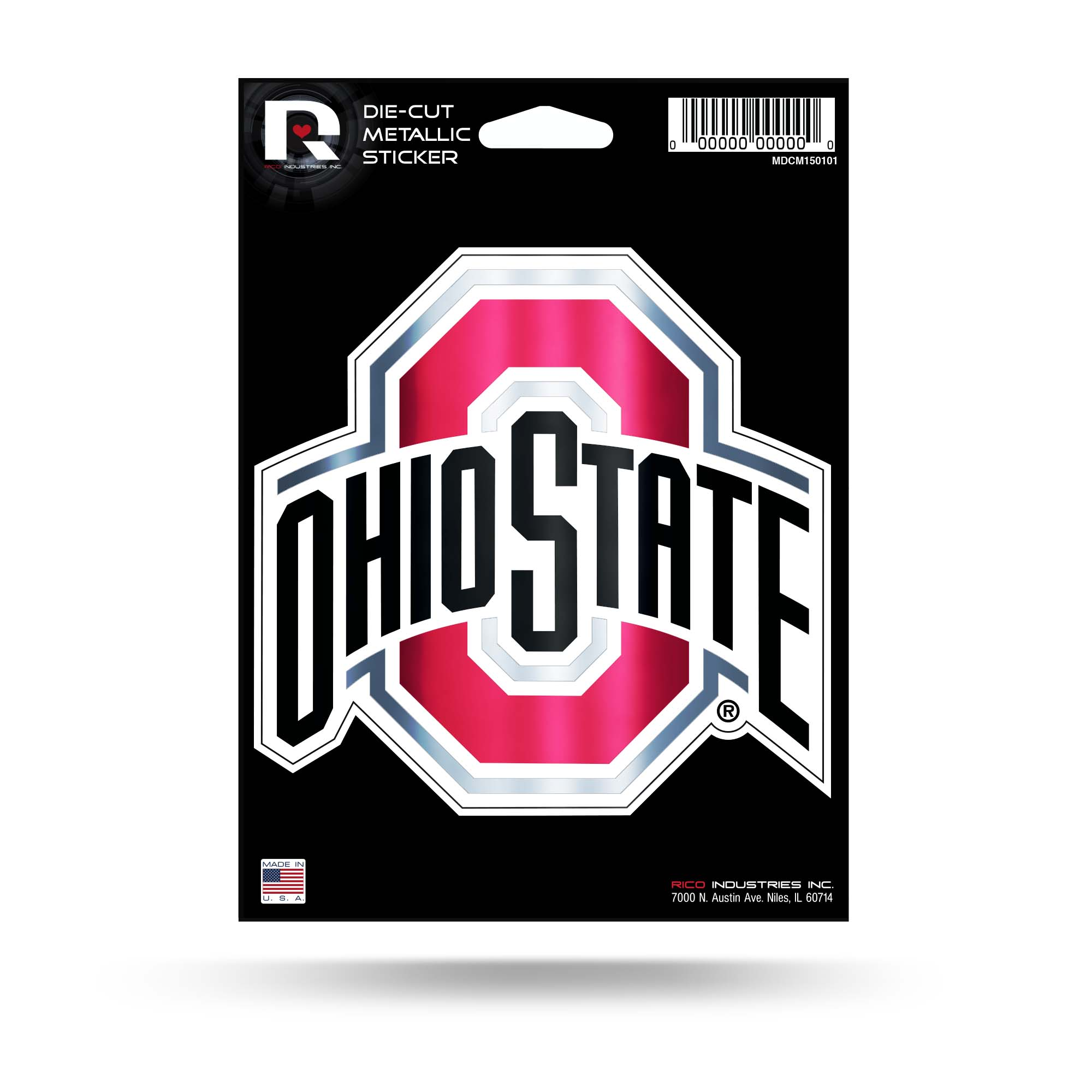 Ohio State Medium Die Cut Metallic Sticker
