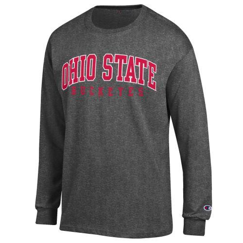 Champion Ohio State Buckeye Charcoal Long Sleeve Unisex Shirt