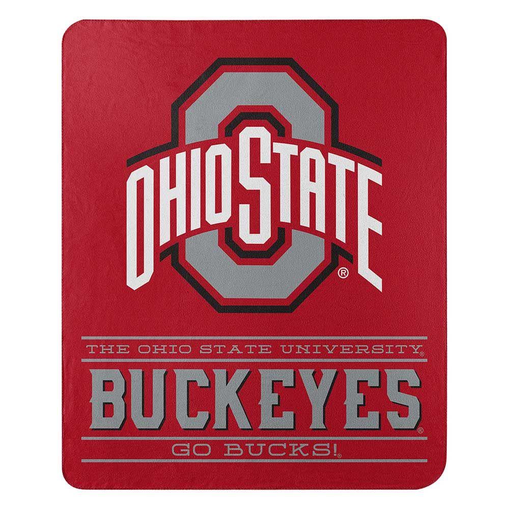 """Ohio State Buckeyes 50"""" x 60"""" Control Fleece Throw Blanket"""