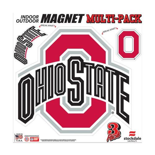 "Ohio State Buckeyes 12"" Multi Pack Car Magnet"